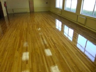 shiny wooden flooring