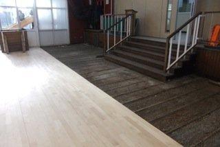 dark brown flooring