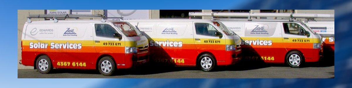 solar services 3 vans of solar services