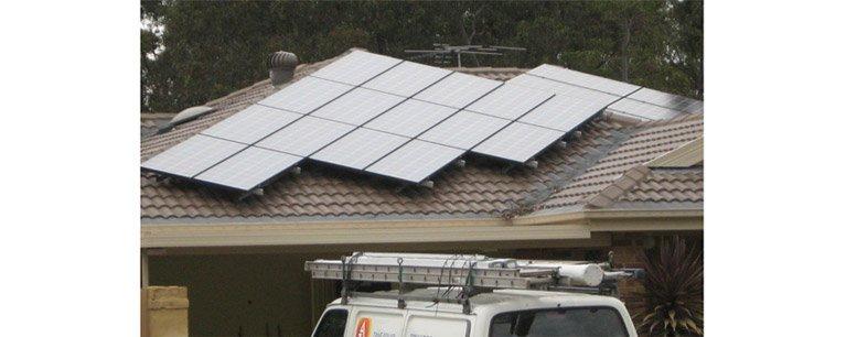 Solar panels on a Central Coast home