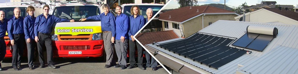 solar services employees and the solar panel roof