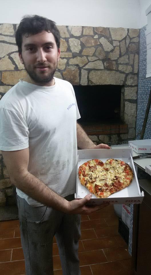 La pizza del cuore