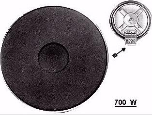 PIASTRA ELETTRICA 700W DIAMETRO 130