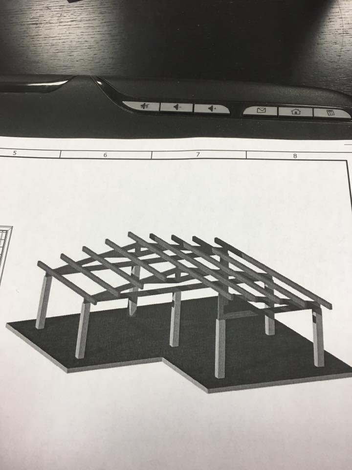 progetto in legno lamellare