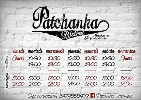 Ristorante Patchanka Bistrot