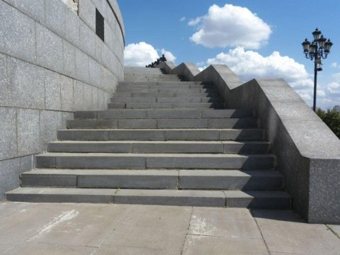 scala in pietra granito