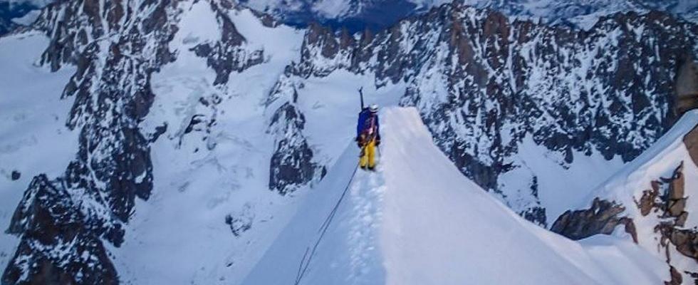 alpinismo free climbing
