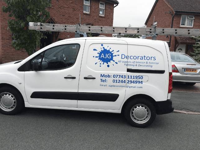 AJG Decorators company vehicle