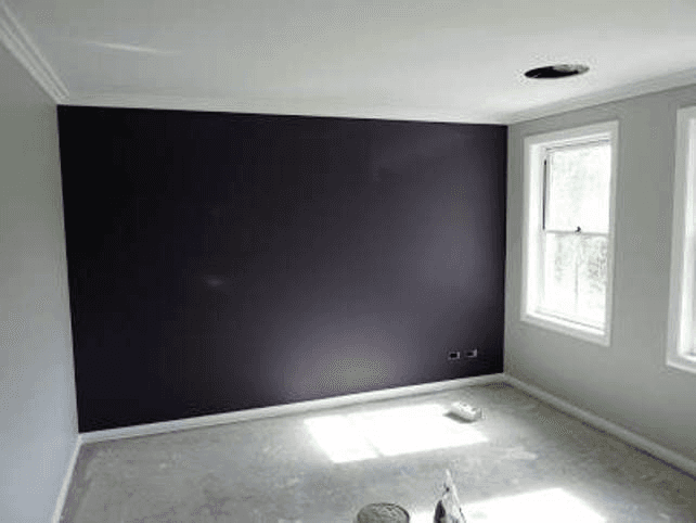Dark panel with white frame
