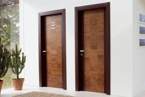 Uno dei modelli di porte in legno proposti da MPS Infissi.