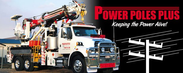 power poles plus pty ltd banner