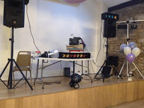 Bad DJ Set up KC Wedding DJ