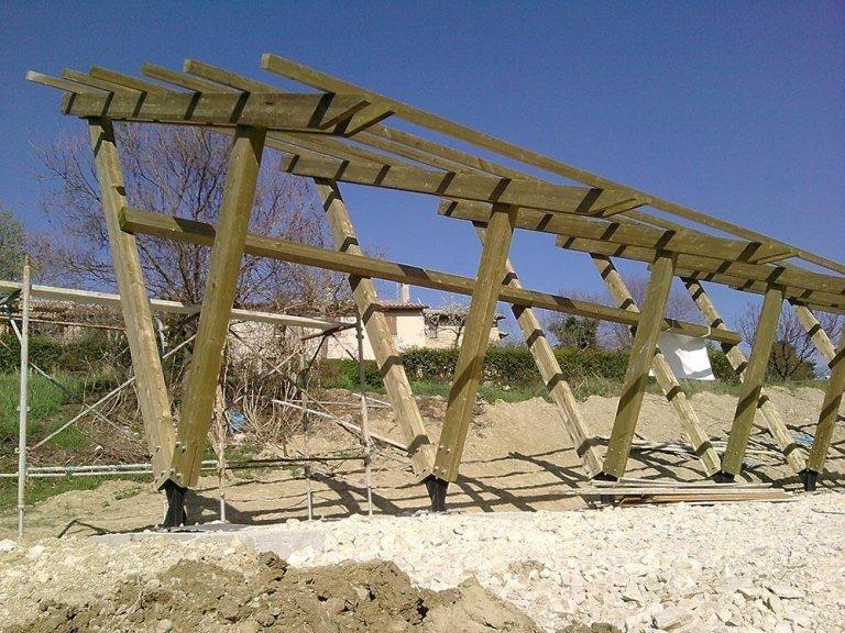 Strutture in legno per il fotovoltaico