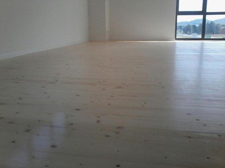 pavimento in abete per palestra