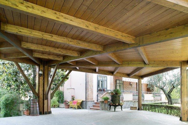 Carport e tettoie in legno - Fratelli Buini Legnami - Assisi