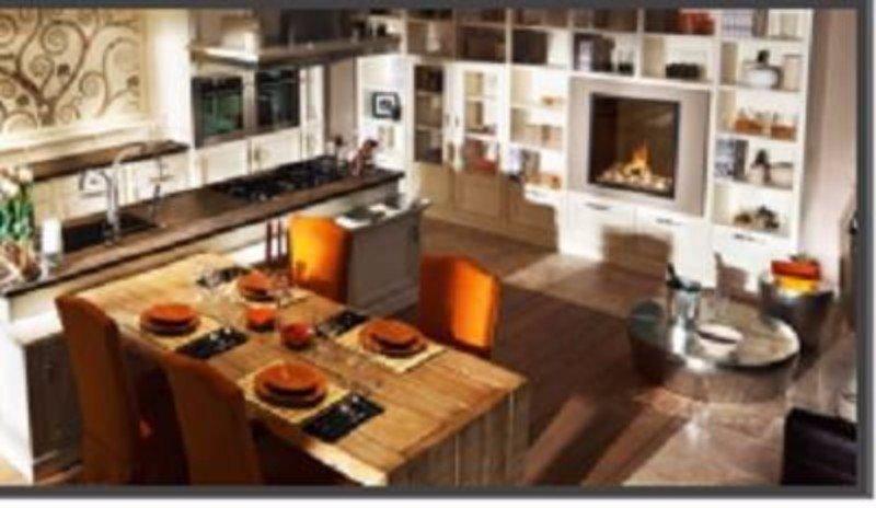 una cucina vista dall'alto