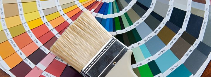 Colour schemes and brush for our painting services in Lahaina, HI
