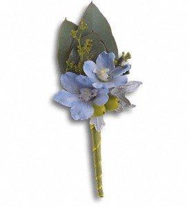 Hero's Blue Boutonniere