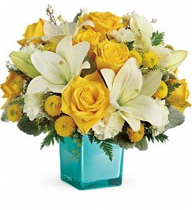 Teleflora's Golden Laughter Bouquet Premium