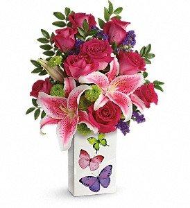 Teleflora's Brilliant Butterflies Bouquet Premium