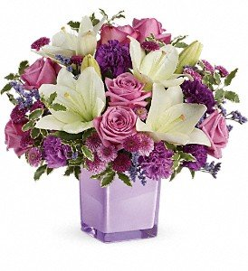 Teleflora's Pleasing Purple Bouquet Premium