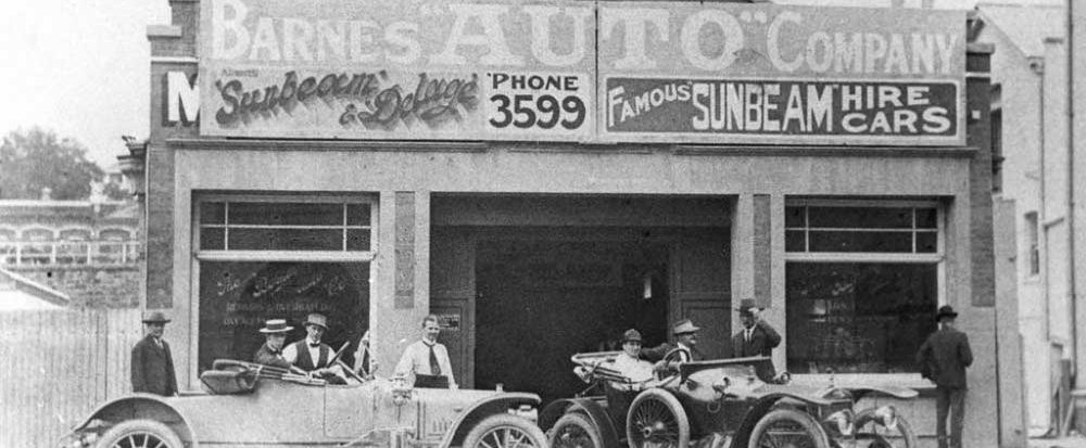 barnes auto historical photos