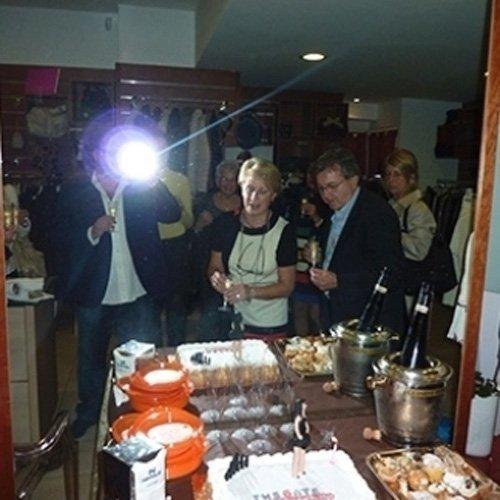 Rinfresco durante evento nella boutique