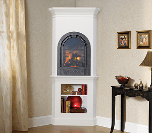 Crescent gas fireplace in Anchorage
