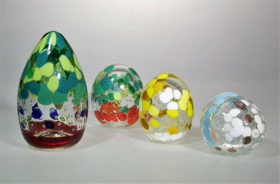 glass paperweights in different formats