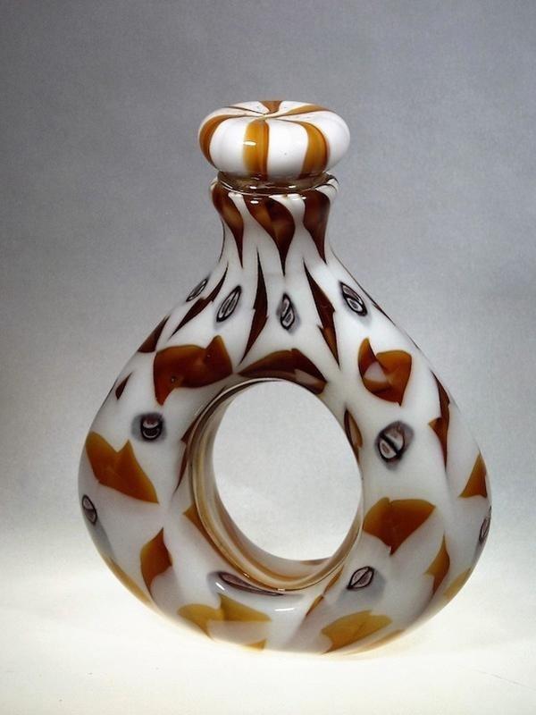 Bottiglia forata -  Vetro Murano