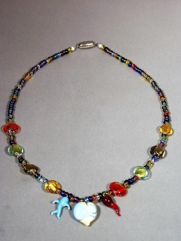 Collana multicolore in vetro - Mogliano Veneto