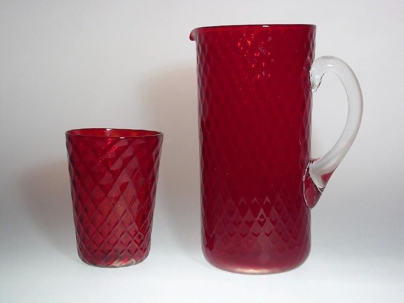 Set bicchiere e caraffa - Vetro Murano Glam