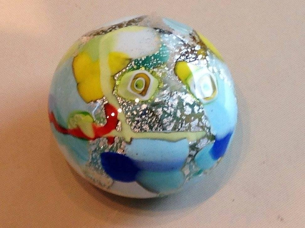 abstract glass paperweight