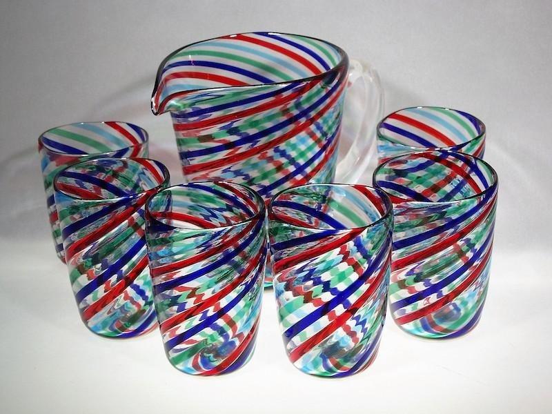 Set bicchieri e caraffa acqua in vetro - Treviso