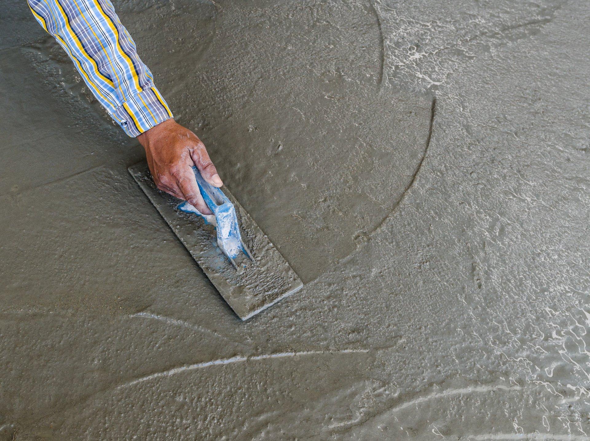 мокрое железнение бетона цементом