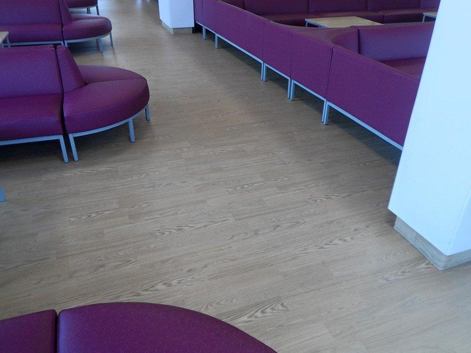 purple seating arrangement