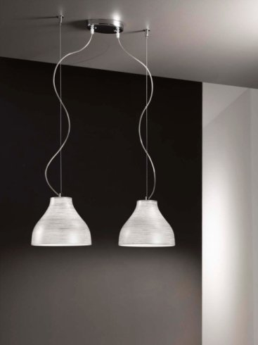 lampada sospesa doppia e