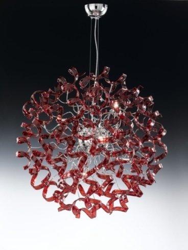 lampada rotonda rossa