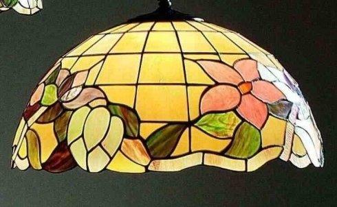 Lampadario giallo a mosaico Perenz