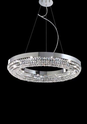 lampada cerchio e cristalli