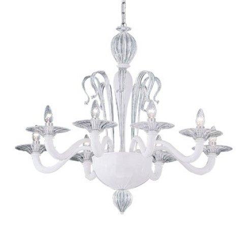 lampada bianca barocca