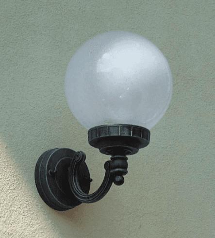 Luce da parete sferica