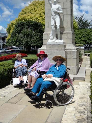 Disabled ladies on wheelchair