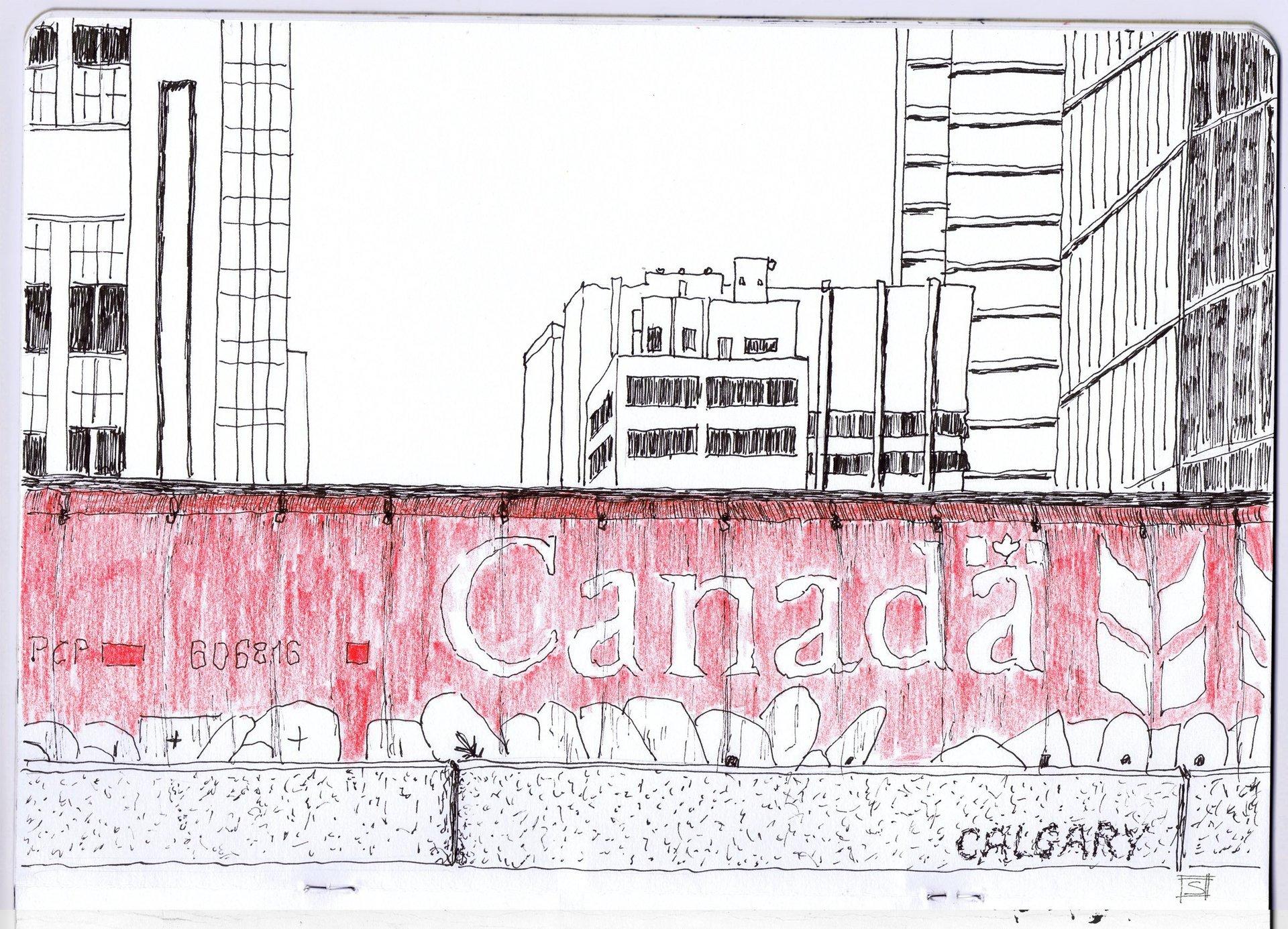 Sebastiano Toma sketches of Canada - Calgary