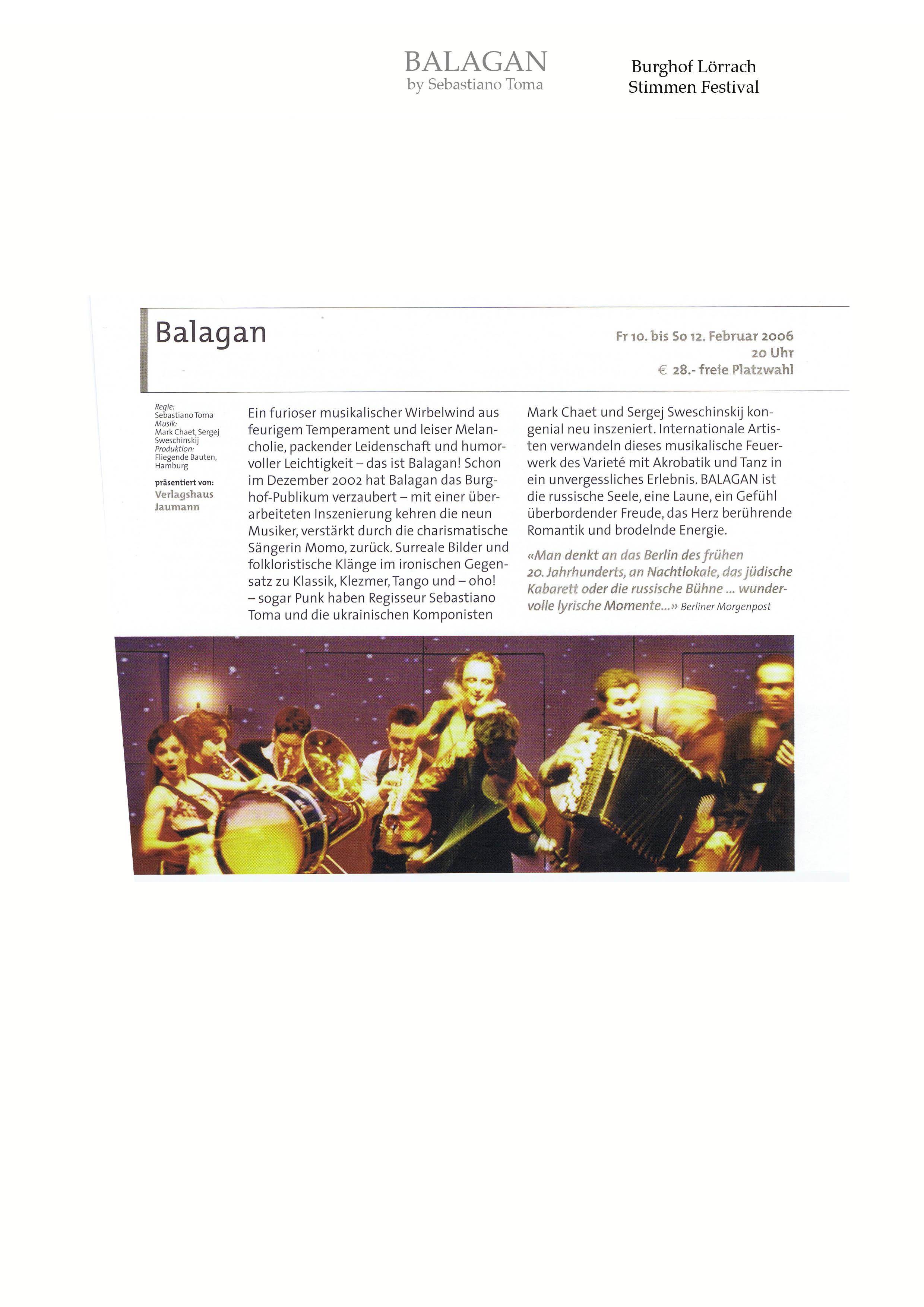 Balagan by Sebastiano Toma