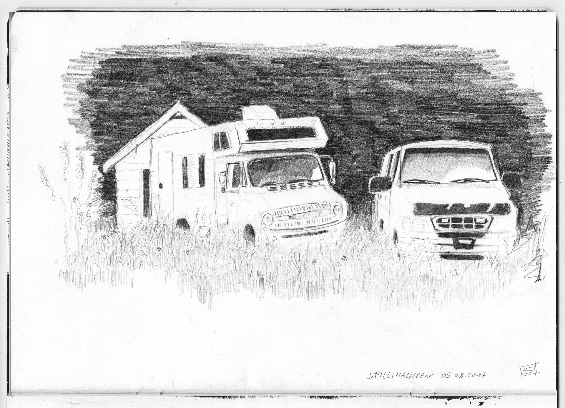 Sebastiano Toma sketches of Canada - Spillimacheen