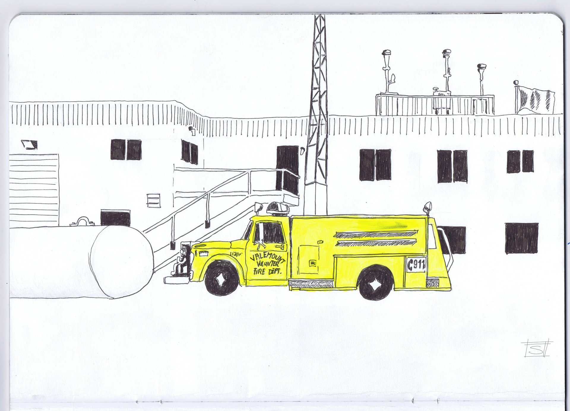 Sebastiano Toma sketches of Canada - Valemount
