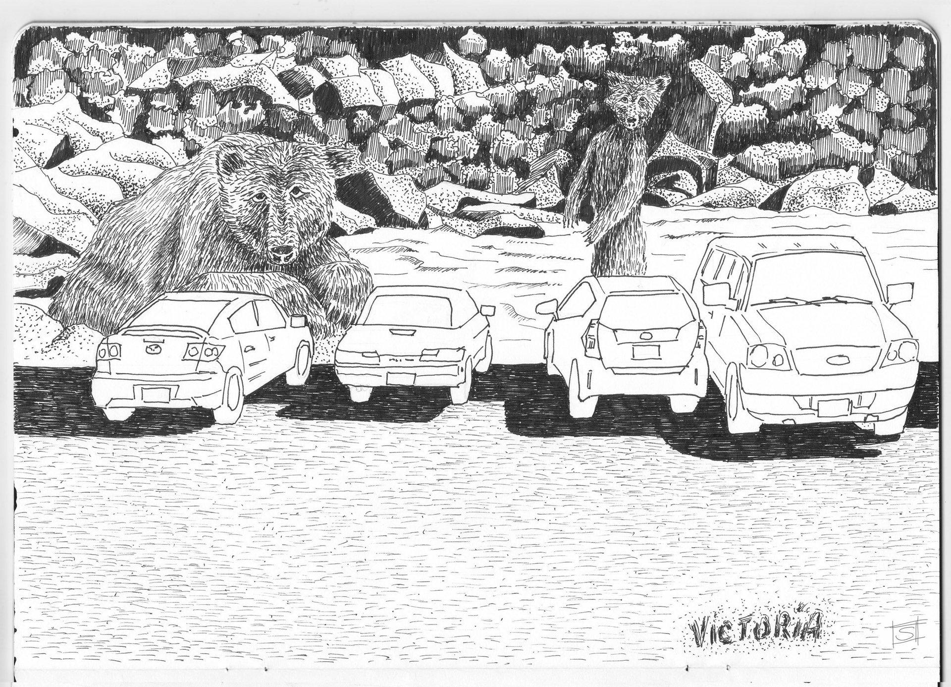 Sebastiano Toma sketches of Canada - Victoria