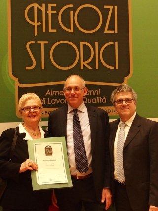 Negozio Storico award ceremony, Rigolo Restaurant