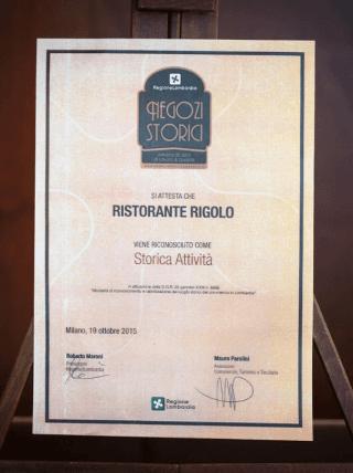 Historical Store, Negozio Storico - Rigolo Restaurant